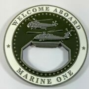 Marine Helicopter Squadron One Hmx-1 Bottle Opener 2 Challenge Coin - Usmc