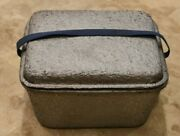 Vintage 1940's Pabst Blue Ribbon Silver Cooler With Lid And Handle