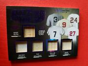 Babe Ruth Mickey Mantle Ted Williams Willie Mays Mike Trout Jersey Bat Card 2/7