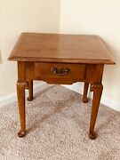 Ethan Allen Heirloom End Table With Drawer 10-8035
