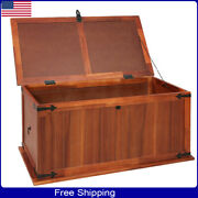 Books Wooden Chest Storage Trunk Wood Bedroom Large Box Blanket Shoes Toys Mini