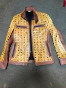 Mcm Dress Camp Collaboration Leather Jacket Menand039s 46