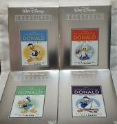 Donald Duck Chronicle Limited Preservation Version Set Vol.1-4 Out Of Print Rare