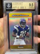 Gold Refractor /50 High-end Bgs 9.5 2007 Adrian Peterson Rookie Bowman Chrome