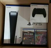 Sony Playstation 5 Ps5 Console Disc Version Bundle Free Shipping Ships Asap