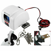 Electric Anchor Winch Saltwater Boat With Wireless Remote Marine White 45 Lbs