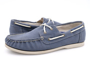 Cole Haan Mens 10m Blue Lace Up Moc Toe 2 Eye Casual Boat Shoes C12552