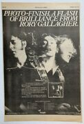 Rory Gallagher 1978 Original Poster Advert Photo Finish