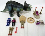 Vintage Tyco Dino Riders Triceratops Sidewinder And Hammerhead Figures Plus Parts