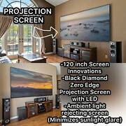 Screen Innovations Zero Edge 120andrdquo Projection Screen Led Retail Over 5k