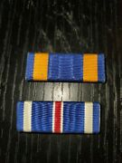 Wwii Us Mint Made Navy Marine Half Inch Wide Air Medal Dfc Ribbon Bar Set