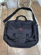 Pampered Chef Tote Bag Consultant Carrying Zipper Case Black Messenger