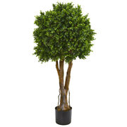 46 Boxwood Artificial Topiary Tree Uv Resistant Indoor/outdoor Nearly Natura