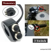 Cnc Switch Motorcycle Handlebar Button Latch Momentary 3 Switches Cafe Race