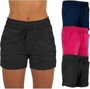 Sexy Basics Womenand039s 3 Pack Active Wear Lounge Yoga Gym Casual Sport Shorts