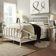 2 Piece Antique White Spindle Bed And Nightstand Set Home Bedroom Furniture