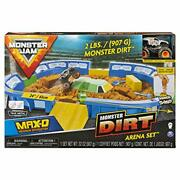 Monster Jam Monster Dirt Arena 24-inch Playset With 2lbs Of Monster Dirt And ...