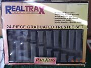 Mth Railking O-scale 40-1033 Real Trax Graduated Trestle Set W/instructions