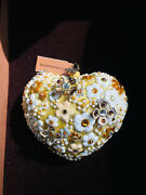 New With Tag In Box Jay Strongwater Golden Blossom Heart Ornament