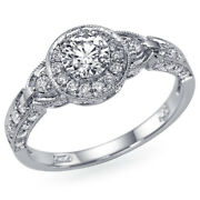 1.11 Ct Vintage Diamond Engagement Ring White Gold Si2 Msrp 6850 45952563