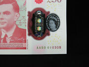 2020 Andpound50 Bank Of England Bank Note Uk Pound Polymer Note Aa50 1st Series Gem Unc