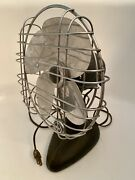 Vintage Montgomery Ward 8.5andrdquo One Speed Oscillating Electric Desk Table Fan Works
