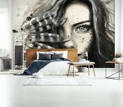 3d Woman Feather 1269na Jesus Religion God Wall Paper Wall Print Decal Mural Ava