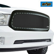 Eag Fits 13-18 Dodge Ram 1500 Grille Stainless Steel Wire Mesh With Abs Shell