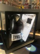 Mike Tyson And Evander Holyfield Signed Left Black Boxing Glove Psa Authenticated