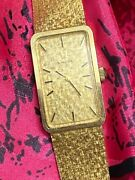 Vintage 14k Solid Gold Omega Manual Wind Up Watch In Authentic Box 48 Grams Gold