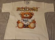 Nwt Moschino Teddy Christmas Lights Limited Campaign 2018 White M 100authentic