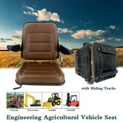 Engineering Vehicle Seat With Armrests For Lawn Mower, Forklift, Tractor