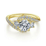 18k Yellow Gold 1.10 Carat Real Diamond Wedding Rings For Womenand039s Size 5.5 6 7 8