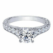 0.90 Ct Real Diamond Wedding Rings 14k Solid White Gold Engagement Size 7 6 5 4