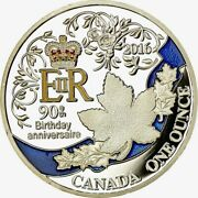Canada - 1 Once Of Silver 2016 Coloured Be Proof - 90 Years The Queen