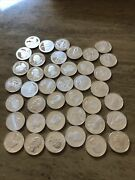 Roll Of 40 10 Fv Proof Silver Quarters 90 25c Mixed Dates And Statehood's