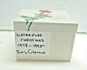 18 Waterford 12 Days Of Christmas + 6 Ornament. 1978 – 1995. Complete W/ Boxes