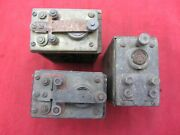3 Vtg Antique Ford Model T A Brass Top Ignition Coils Buzz Box As Is Untested