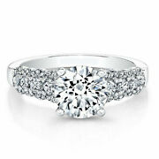0.84 Ct Round Cut Diamond Engagement Ring 18k Solid White Gold Size 4 5 6 7 8 9