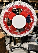 Rare 48 Game Of Chance Wood Roulette Wheel. Joe Louis Arena Detroit Kronwell