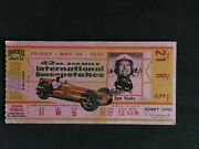 1958 Indianapolis 500 Motor Speedway Original Official Illustrated Ticket With T