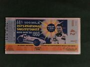 1960 Indianapolis 500 Motor Speedway Original Official Illustrated Ticket With T