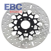 Ebc 10 Button Floater Wide Band Brake Rotor - Black - Rsd020blk
