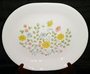 Corelle Meadow Oval Platter 10 Round Serving Bowl 2- 8 Round Serving Bowls