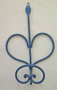 Coat Hangers Wrought Iron Wall Forged Hand Shape Heart A Hook Ch34