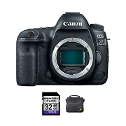 Canon Eos 5d Mark Iv Dslr Camera + 32gb Memory Card And Soft Case