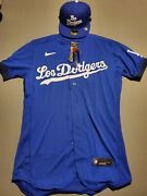 Authentic Los Angeles Dodgers City Connect Jersey And New Era 59fifty Hat Sz 40