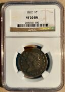 1812 Ngc Vf20 Bn Classic Head Large Cent 1c - Large Date