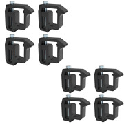 8xblack Truck Cap Topper Camper Shell Mounting Clamps Heavy Duty Replace Tl-2002
