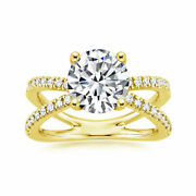 14k Yellow Gold 1.83 Ct Excellent Moissanite Diamond Engagement Ring Size 6 8 9